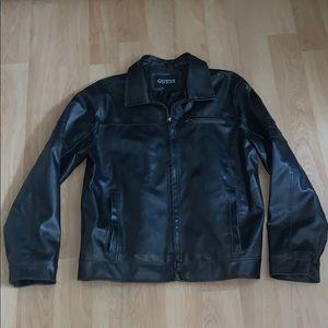 Men's Guess Black Zippered Jacket Size Large